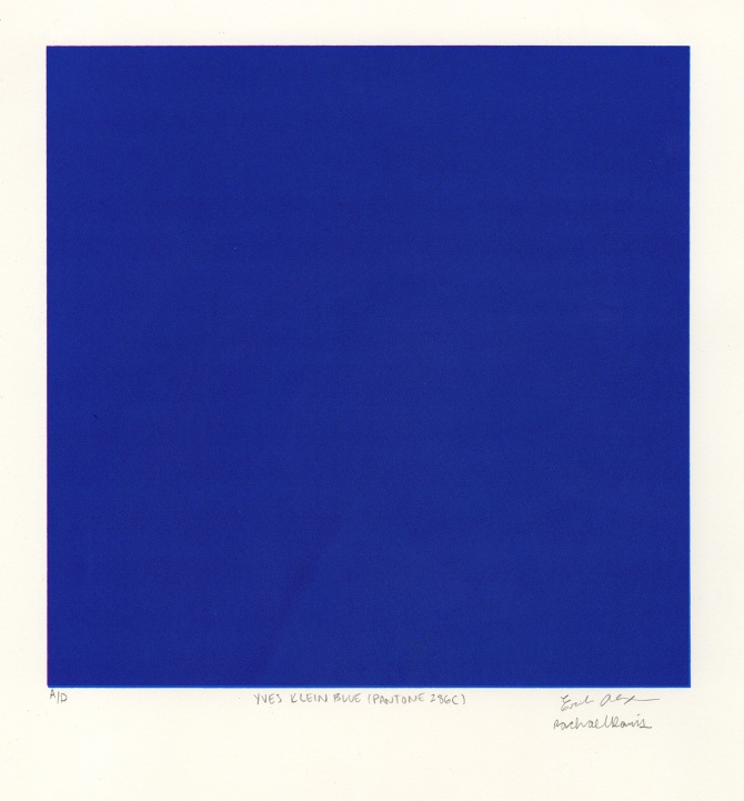 A Picture Of Yves Klein Blue Pantone Painting